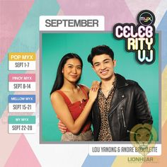 Catch Lou Yanong, Andre Brouillette: MYX September Celebrity VJ Cool Music Videos, Good Music, Pop Rock Bands, Music Channel, Indie Pop, Pinoy, New Shows, Number One, Love Story