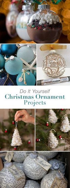 DIY Christmas Ornaments • Lots of ideas, projects and tutorials! #DIY #DIYchristmasornaments #DIYchristmasornamentprojects #christmasornaments #DIYchristmasornamentideas