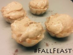 TY @ReginaPittman for your #FallFeast #Recipe! Mini Pumpkin Yogurt Cups  1 cup of Greek God® Greek-Style Vanilla Honey Yogurt 1 pack of cheesecake Jello 1/2 cup of milk 1 teaspoon pumpkin spice 1 small can of pumpkin 1 tub of cool whip 1/4 cup of sugar or Splenda 2 packages of mini phyllo cups  Mix the Greek God® Yogurt with the Jello and the milk. Beat it for about 1 minute. Then add the pumpkin, the pumpkin spice and the sugar slowly and then fold the cool whip in.