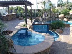 Fun for All Ages  A complete playground for young and old: A bridge over the pool, an outdoor spa, boulders and more...