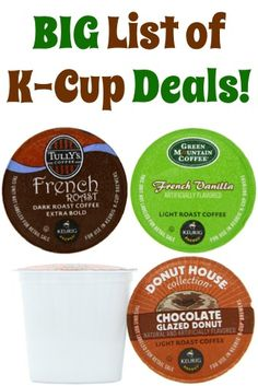 BIG List of K-Cup Deals ~ as low as 45c each + FREE Shipping!