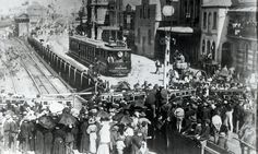 ARCHIVAL REVIVAL Images from the Newcastle Herald's archives. Market Street railway gates, men carrying coffins from off the ferry to the station after the 1896 Stockton Colliery disaster. Hunter Street, Australian Road Trip, Library University, The Sydney Morning Herald, Newcastle Nsw, Street Mall, Historical Pictures, Back In The Day, Old Photos