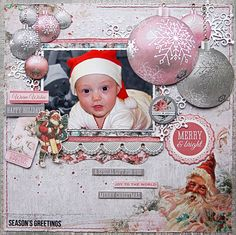 """<p>Hello everybody! Emmy here with you today sharing a layout I created with the amazingKaisercraft's Silver Bellscollection (available at Merly Impressions online store). And this time it is a pink one!To create my background I used Kaisercard Steel Weave Cardstock, which I altered with an edge stamp from theClear Stamps <a href="""" http://www.merlyimpressions.co.uk/blog/project-portfolio/scrapbooking/special-gift-with-silver-bells/ """"> …click to read more</a></p>"""