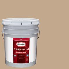 Glidden Premium 5 gal. #HDGWN20U Highland Plains Neutral Flat Interior Paint with Primer