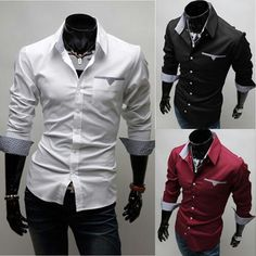 2016 Men's Designer Shirts Smart Casual Dress Shirts Business Formal Plus Size Long Sleeve Fitted Dress, Long Sleeve Shirts, Smart Casual, Casual Tops, Mens Designer Shirts, Business Formal, Formal Shirts, Shirt Style, Shirt Designs