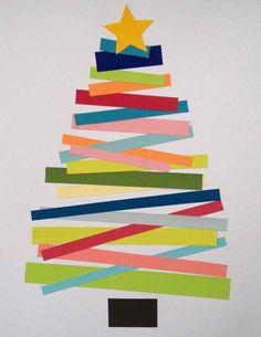 paper strip tree - love the diagonal