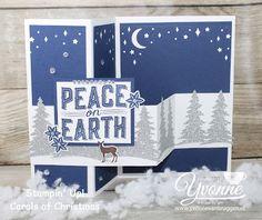 stampin up bestellen boxtel, yvonne van bruggen, 52 weeks to christmas, kerstkaart, Carols of christmas