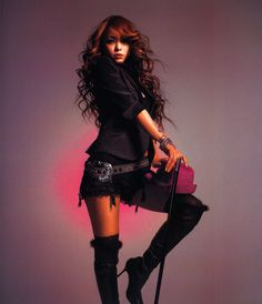 NAMIE SURE DOES KNOW HOW TO WORK THOSE THIGH BOOTS!!!