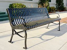 Model CR-138: The refined style and grace of the CR-138 bench makes it one of the most appealing choices for public sites.