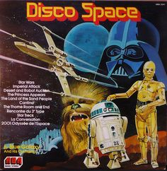 """""""Disco Space"""" by Blue Galaxy and his Orchestra, LP, ABA Records"""