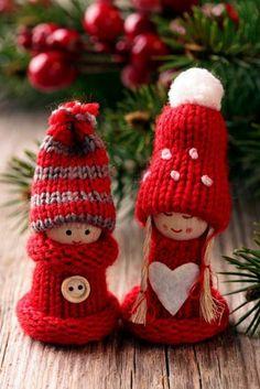 gestrickte bastelideen weihnachten deko sterne weihnachtsdeko