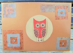 Red Owl handmade card FWB any occasion by RogueKissedCraft Red Owl, Owl Card, Anniversary Cards, Rogues, Recycled Materials, Thank You Cards, Etsy Store, Birthday Cards, Recycling