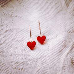 Copper earrings Hearts