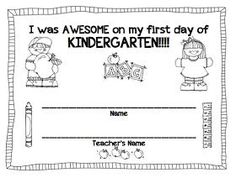 Image result for first day of school activities for kindergarten students