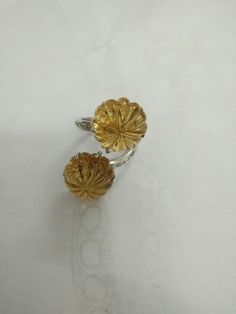 Citrin with dimond ring