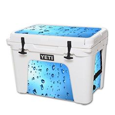 MightySkins Protective Vinyl Skin Decal for YETI Tundra 50 qt Cooler wrap cover sticker skins Water Droplets -- Check this awesome product by going to the link at the image.