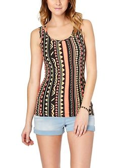 image of Neon Vertical Tribal Soft Brushed Tank