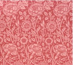 'Pink & Rose' by William Morris was originally designed in 1890 as a single colour design, and later adapted in 1893 as a polychrome pattern.