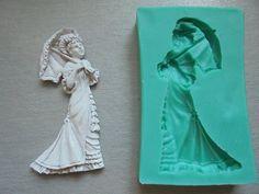 Silikon-Formenbau / Dame mit Sonnenschirm / Cake Decorating