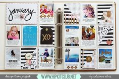Designer @adriennealvis is sharing her first Project Life spread of the year She used our #january2016 including @cratepaper @maggiehdesign @mymindseyeinc exclusive journaling cards by @kjstarre #projectlife #hipkits #hipkitclub #january2016