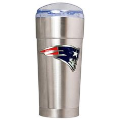 Officially Licensed NFL 24 oz. Team Emblem Stainless Steel Eagle Tumbler - Patriots