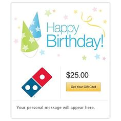 Dominos Happy Birthday Hats Gift Cards Email Delivery You Can Get More Details