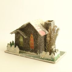 Putz house vintage and reproduction are wonderful Christmas treasures