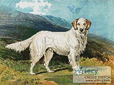 English Setter - cross stitch pattern designed by Tereena Clarke. Category: Dogs.