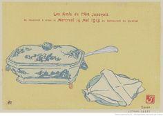 Les Amis de l'Art Japonais se réuniront à dîner le Mercredi 14 Mai 1913 au Restaurant du Cardinal : [carton d'invitation, estampe] / J [Prosper Alphonse Isaac] [monogr.]
