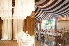 Draping the right materials in your wedding venue will dramatically change the feel of the place.