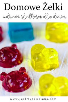 Yummy and healthy jelly sweets for kids. Perfect for dessert od as a snack. Party idea for kids. Cute Food, Good Food, Baby Food Recipes, Vegan Recipes, Homemade Jelly, Something Sweet, Food Styling, Food Photography, Food And Drink