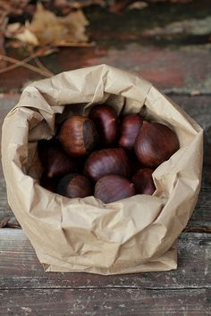 Chestnuts...I remember Parker loving these and bringing home nearly 50 from Grandma G's house.  He made people out of them!