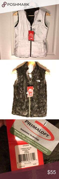 "NEW The North Face womens fuzzy insulated vest! XS The North Face Mossbud Swirl Insulated Reversible Vest, NWT!  Size XS Women's - Primaloft insulation technology❗️ White exterior, fuzzy forest green interior. Retail $95-100 now online. Outdoor vest, but super cute for anywhere. Pockets on both sides. See pictures for details! Make offer if interested! ❗️ Super warm, and soft! Awesome item for any lady's closet!! A must have!  Exact colors are ""Moonlight Ivory"". The North Face Jackets…"