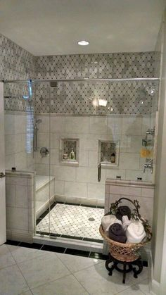 Fantastic Small Master Bathroom Design Ideas is part of Bathroom remodel master A small bathroom remodel may be deceptive Stress too much and you could be delightfully surprised that you just - Bad Inspiration, Bathroom Inspiration, Dream Bathrooms, Beautiful Bathrooms, Master Bathrooms, Small Bathrooms, Master Baths, Tiled Bathrooms, Upstairs Bathrooms