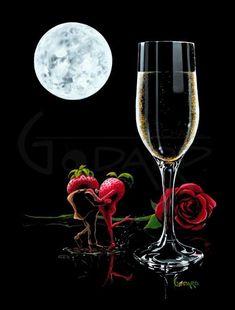 MG Limited Edition Wine & Spirits — Michael Godard Art Gallery & Store Godard Art, Glass Of Champagne, Gifs, Wine Art, Wine And Spirits, Art World, Beautiful Images, Illusions, Cool Art