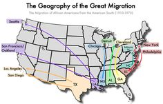 ARTICLE - Millions of African Americans left the South from 1910 to 1970. Known as the Great Migration, this movement had a profound impact on the contemporary United States.