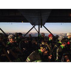 On the George Washington Bridge, NYC. Gran Fondo NY 2012.