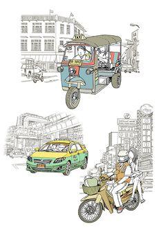 Hello Bangkok by Ise Ananphada, via Behance