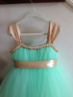 Hey, I found this really awesome Etsy listing at https://www.etsy.com/listing/160247094/mint-and-gold-tutu-dress