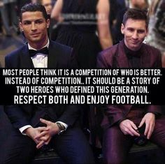 Messi and Ronaldo. Best footballers of the world. Cristino Ronaldo, Ronaldo Football, Football Love, Best Football Players, Football Memes, Football Stuff, Wisdom Quotes, Life Quotes, Reality Quotes