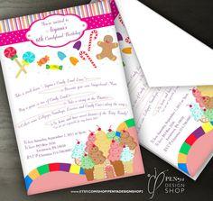 Custom Order for Alyssa Candy Land Birthday by penyadesignshop2, $22.00