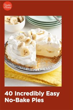 Wow everyone at your table with these no-fuss, no-bake pie recipes—no oven required! From creamy chocolate to lemony layers, the perfect ending to any fabulous meal is right here. Pie Recipes, Dessert Recipes, Best Key Lime Pie, Grasshopper Pie, Icebox Pie, Keylime Pie Recipe, Crunch Cereal, Berry Pie, No Bake Pies