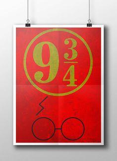 Harry Potter Minimalist movie poster by PenguPrints on Etsy, $10.00 www.etsy.com/shop/penguprints