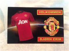 Manchester United bordkort,konfirmasjon,jubileum