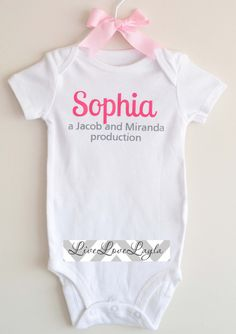 Personalized Parent Production Baby Onesie / Baby by LiveLoveLayla, $13.50