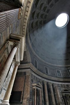 interior of the Pantheon, Rome - Roman temple built in 126 AD