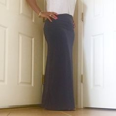 Bellino Maxi Skirt Solid color maxi skirt. Stretchy Rayon and Spandex. Available in sizes S, M, L, XL. ♦️Request your size for a personal listing. Thanks! Model is wearing size large = size 8/10 Bellino Clothing Skirts Maxi