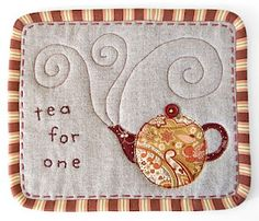 PatchworkPottery: Mug Rugs http://judycooper.blogspot.ca/