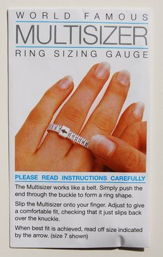 Online Ring Size Chart Simple Online Slution To Find Your Ring Size