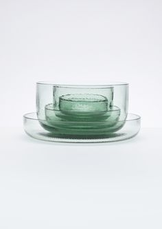 Glassware Collection made from recycled Coca-Cola bottles, Nendo, 2014.